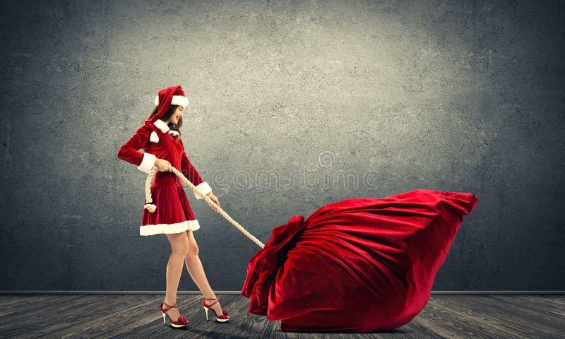 Consiga su regalo de la Navidad fotografía de archivo libre de regalías
