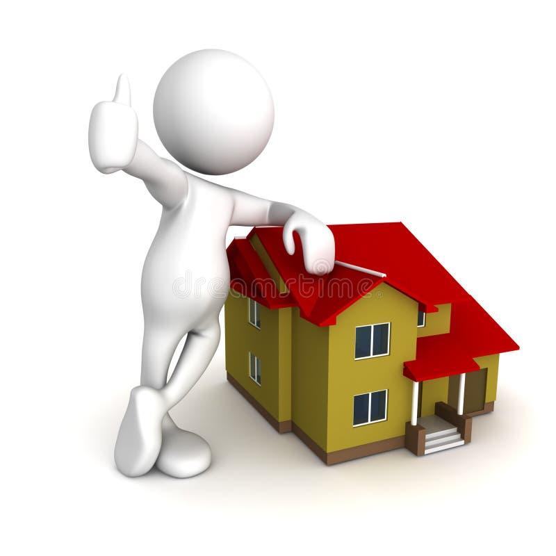 Consiguió mi casa ideal ilustración del vector