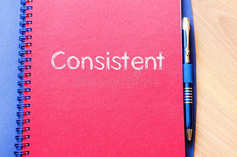 Consistent write on notebook royalty free stock photos