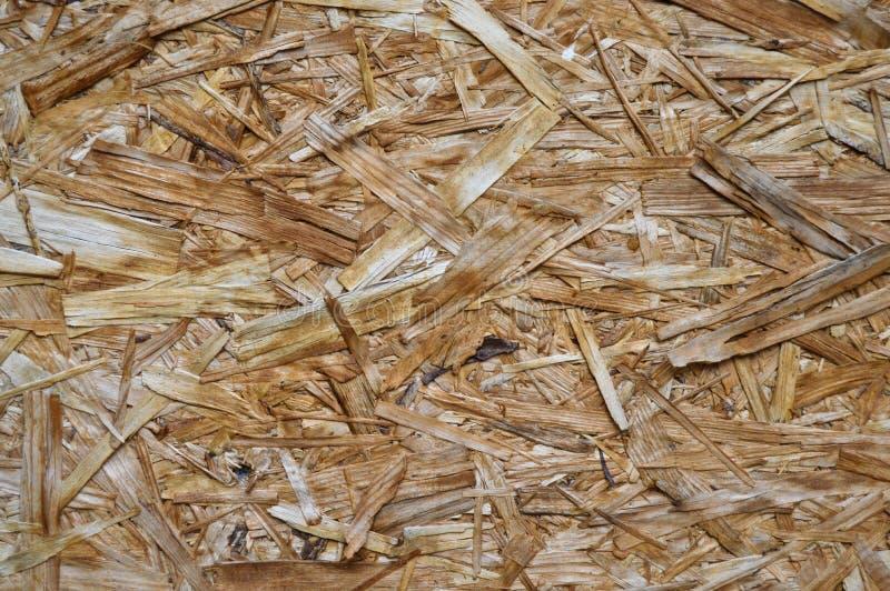 Consistir da placa de OSB pressionou microplaquetas do pinheiro fotografia de stock
