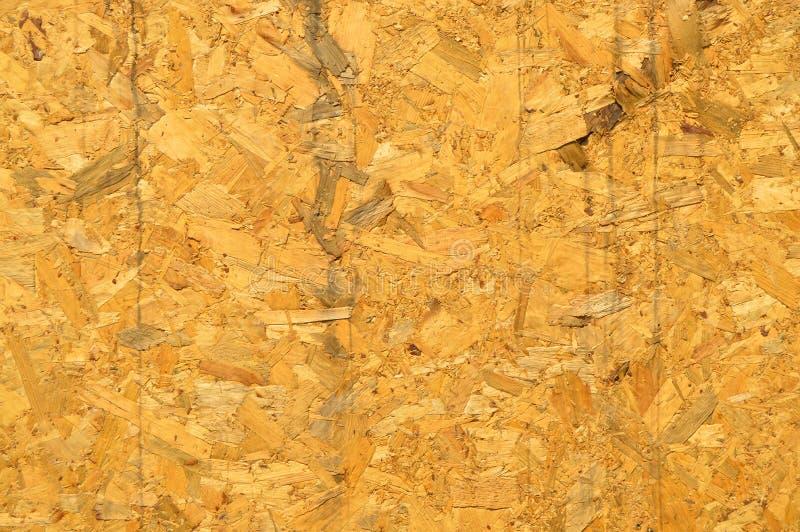 Consistir da placa de OSB pressionou microplaquetas do pinheiro foto de stock