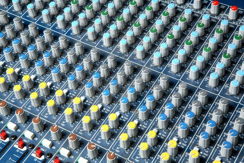 Consola audio del mezclador imagen de archivo libre de regalías
