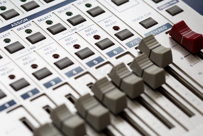 Consola de la grabación fotografía de archivo