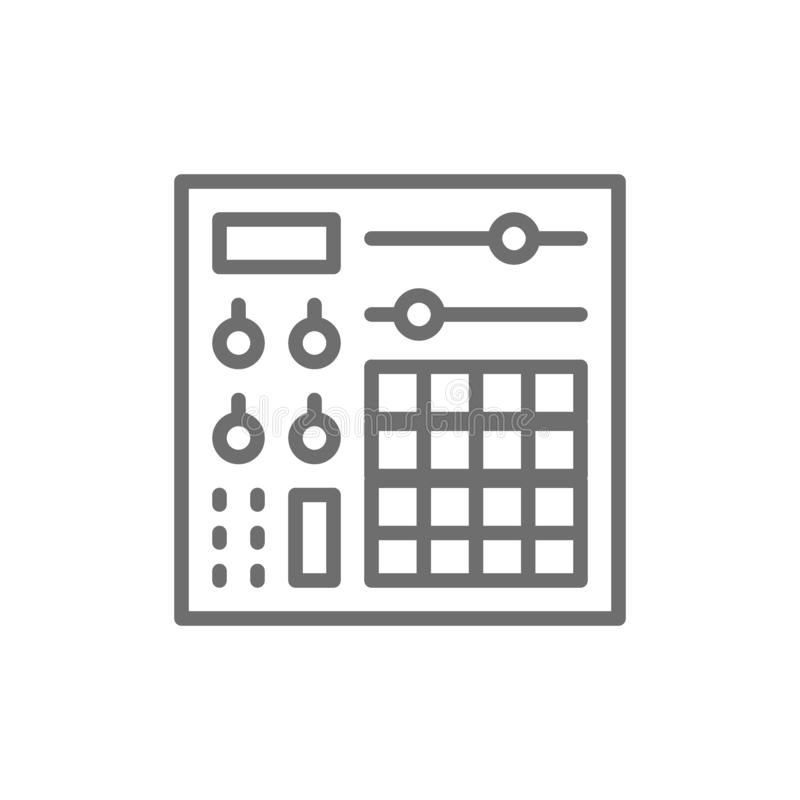Consola de la música, línea audio icono del mezclador libre illustration