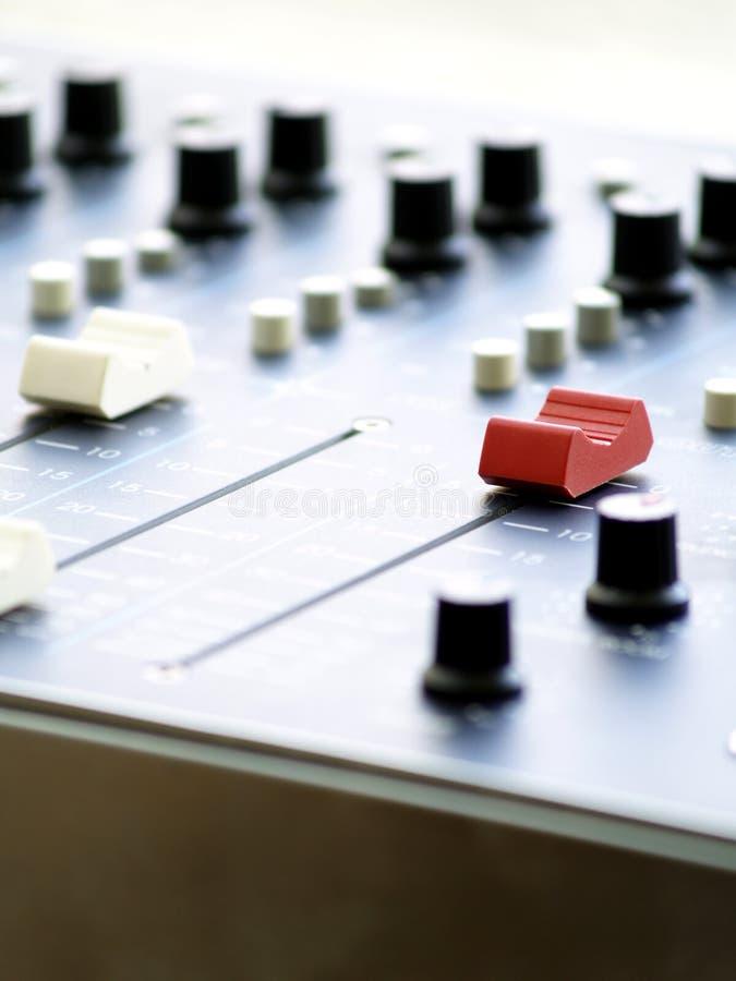 Consola de la mezcla. fotografía de archivo
