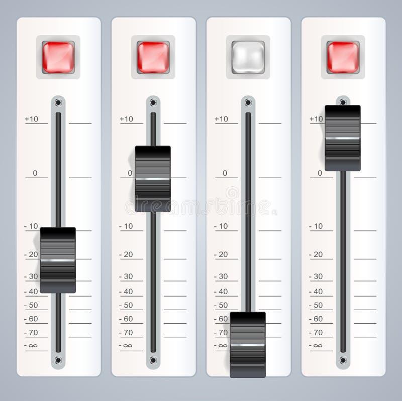 Consola de mezcla audio libre illustration