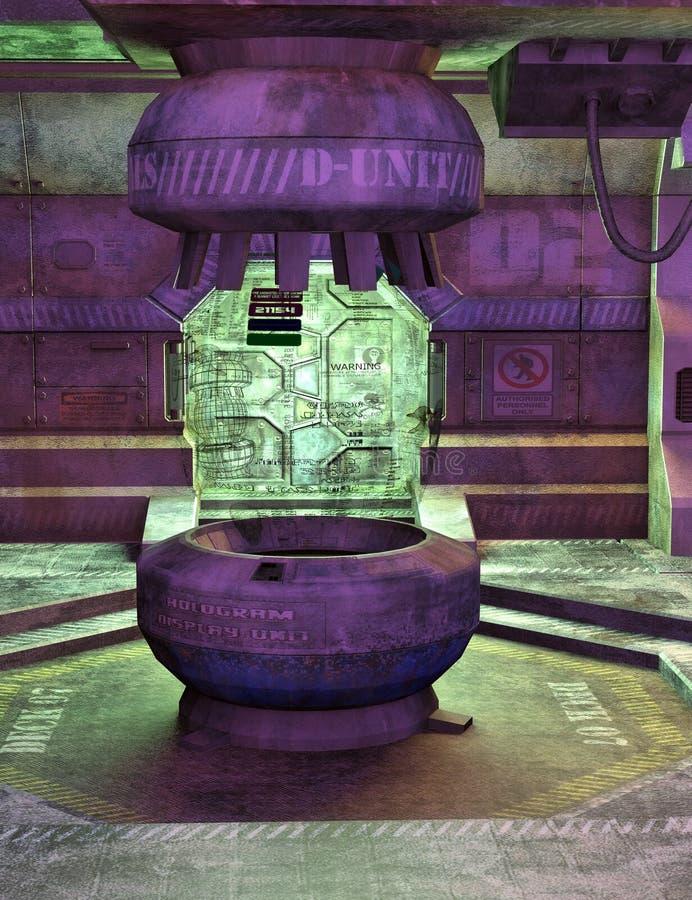 Consola del espacio de la ciencia ficción ilustración del vector
