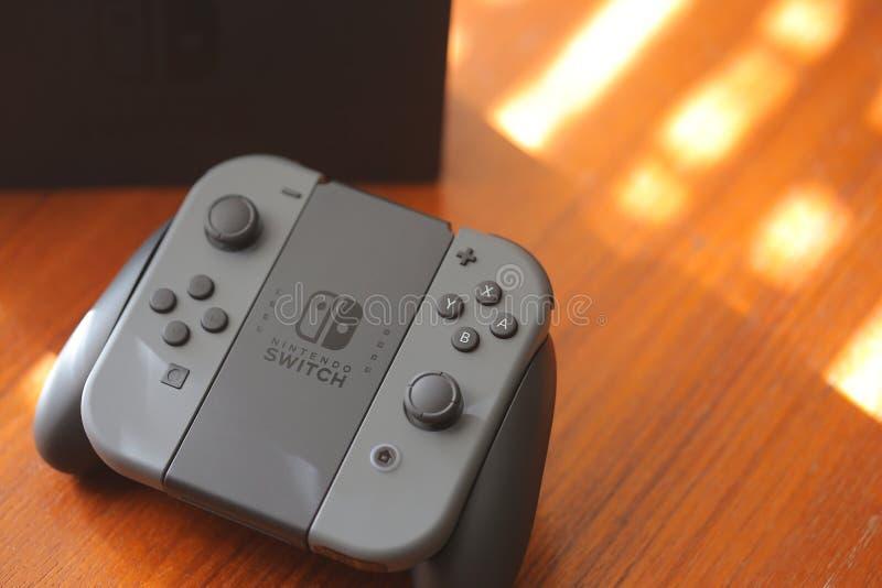 Consola del interruptor de Nintendo imágenes de archivo libres de regalías