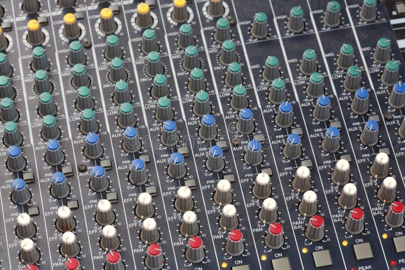 Consola del mezclador de sonidos