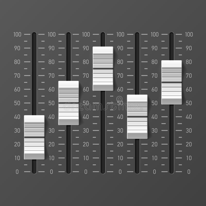 Consola del mezclador de sonidos ilustración del vector