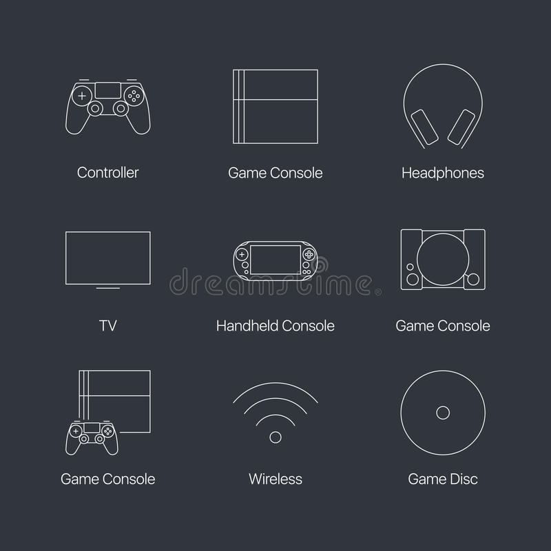 Consola del videojuego libre illustration