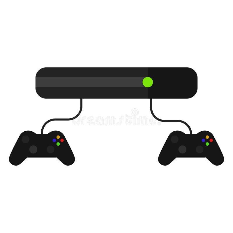 Consola del videojuego con las palancas de mando aisladas en blanco libre illustration
