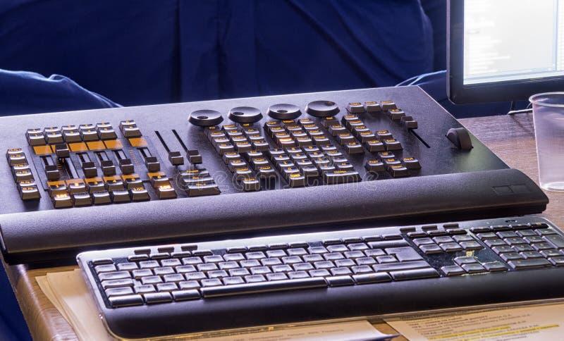 Consola ligera, panel de control para la luz imagen de archivo libre de regalías