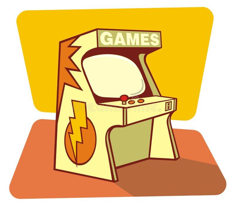 Consola retra de los juegos stock de ilustración