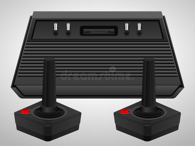 Consola y palancas de mando retras ilustración del vector
