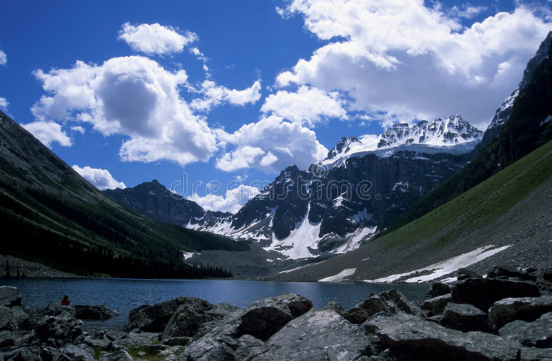 Consolation See, kanadische Rockies stockfoto