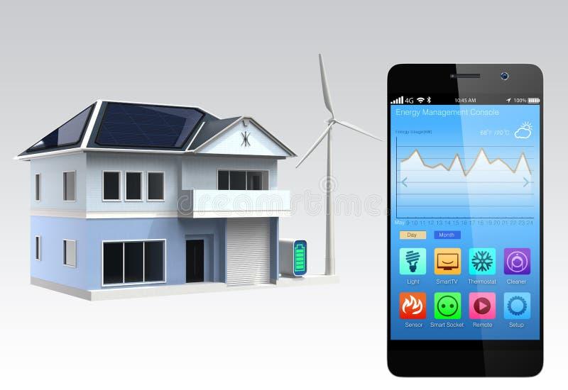 Console à la maison intelligente illustration stock