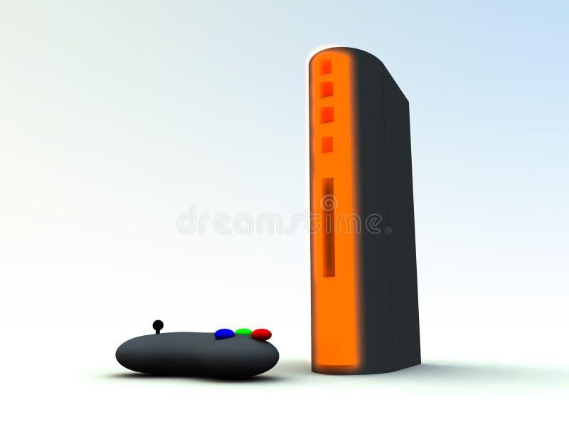 Console 6 dos jogos ilustração do vetor