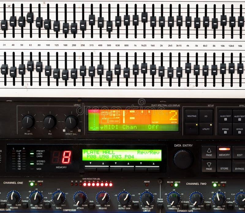 console blandande musik för detaljen royaltyfria bilder