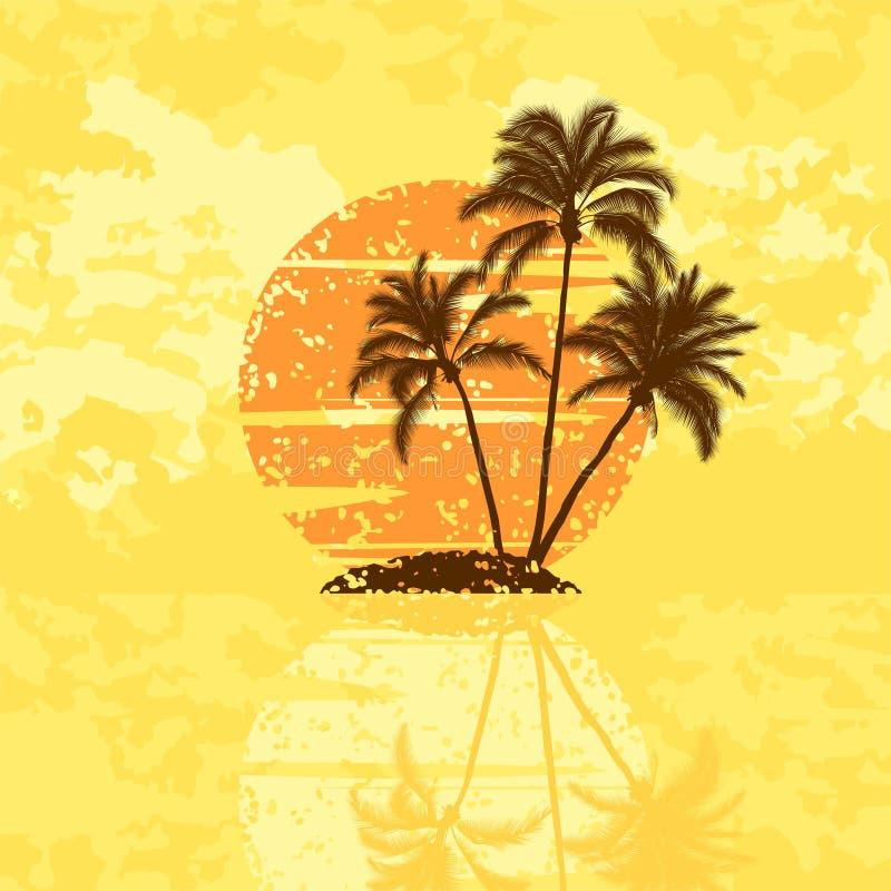 Download Console com palmeiras ilustração do vetor. Ilustração de stylization - 10058469