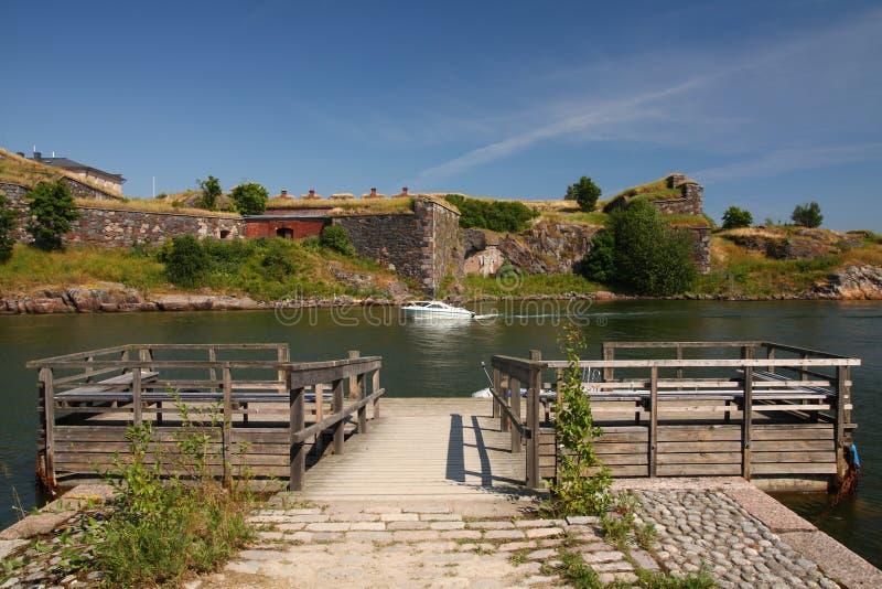 Console da fortaleza de Suomenlinna imagem de stock