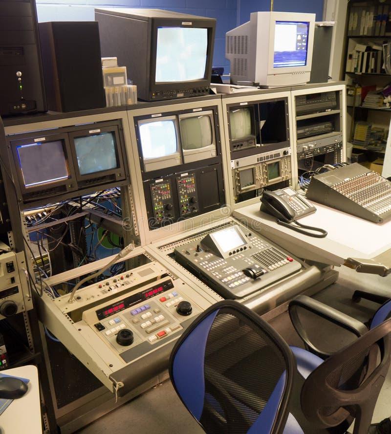 Console de édition visuelle de TV photographie stock