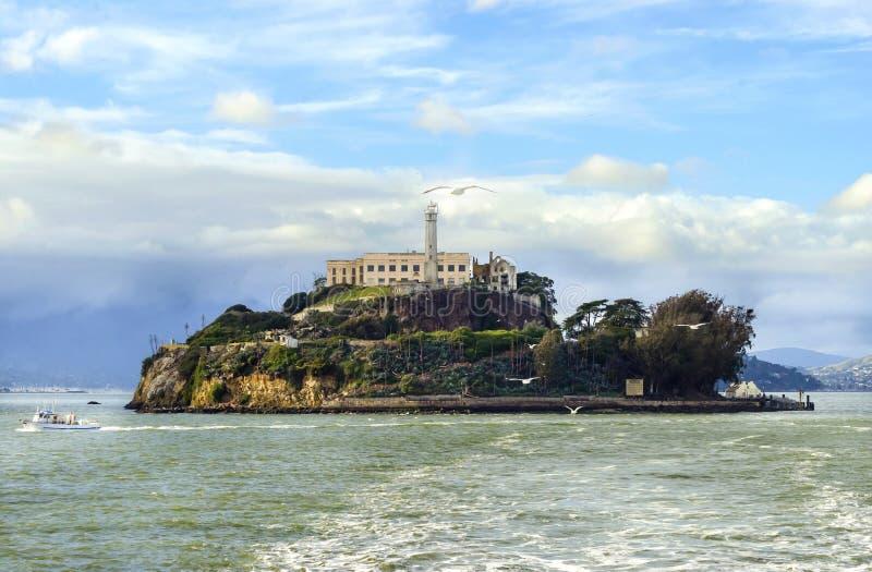 Console de Alcatraz, San Francisco, Califórnia imagens de stock