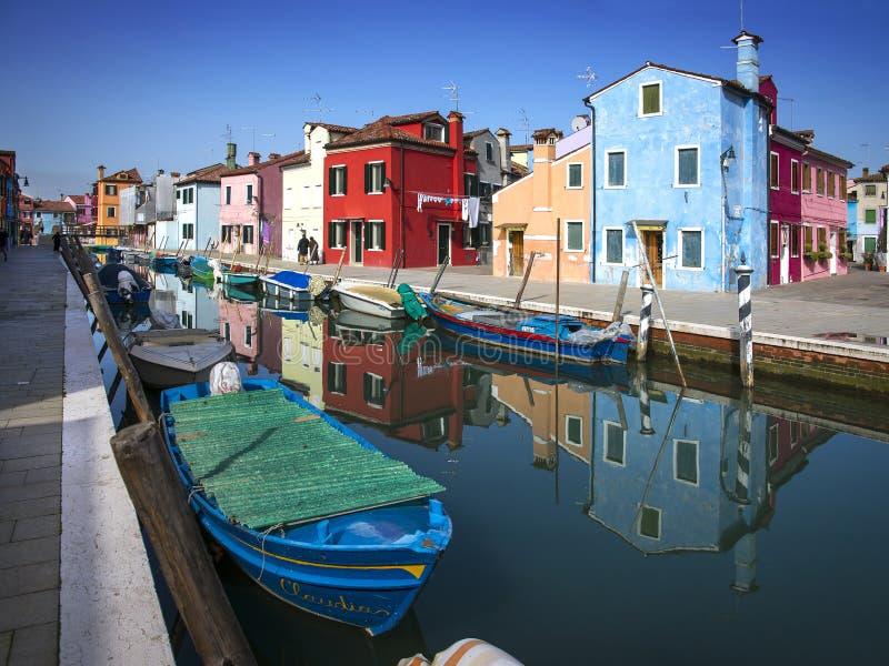 Console de Burano, Veneza, Italy imagem de stock