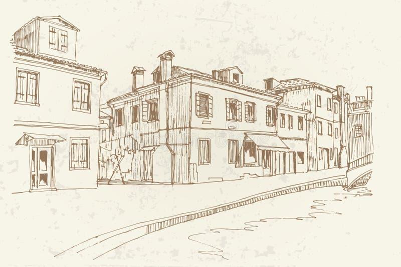 Console de Burano, Veneza, Italy ilustração do vetor