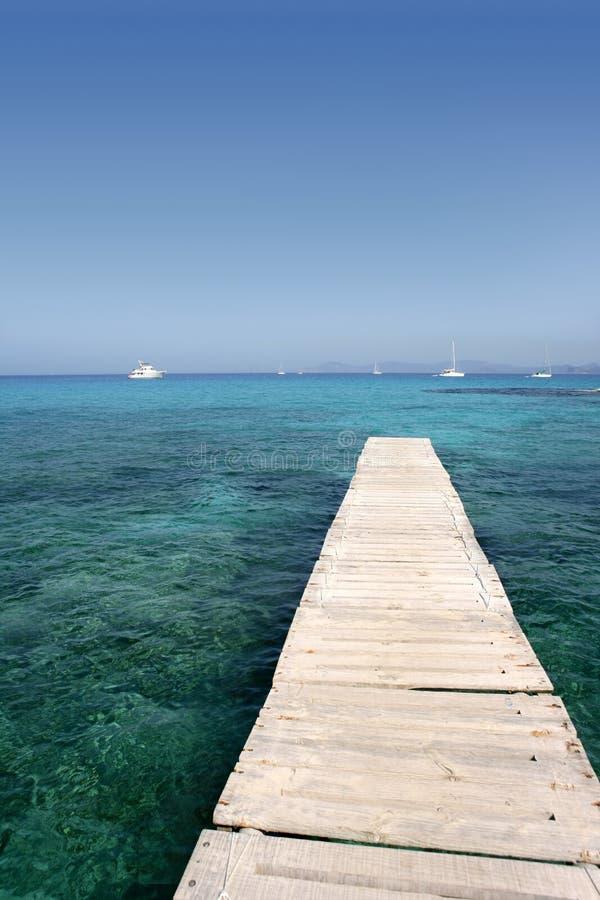 Console de Formentera perto de Ibiza em mediterrâneo imagem de stock