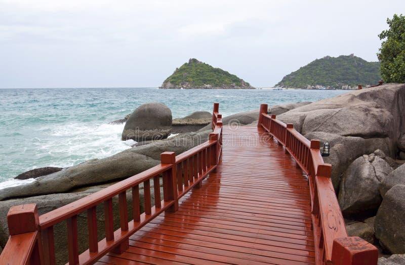 Console de madeira da ponte de tao do Koh fotos de stock royalty free