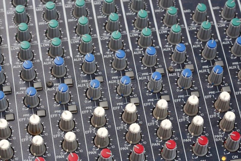 Console de mixeur son photo stock