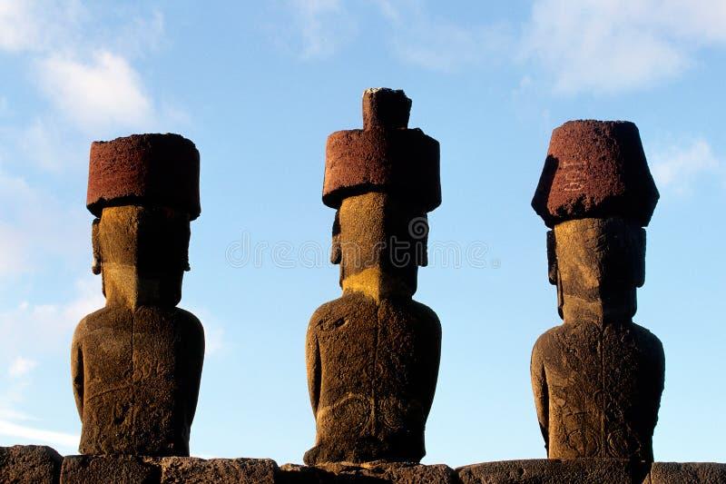 Console de Moai- Easter, o Chile foto de stock