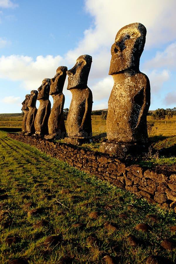 Console de Moai- Easter, o Chile fotografia de stock royalty free