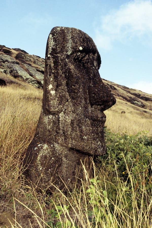 Console de Moai- Easter, o Chile fotos de stock