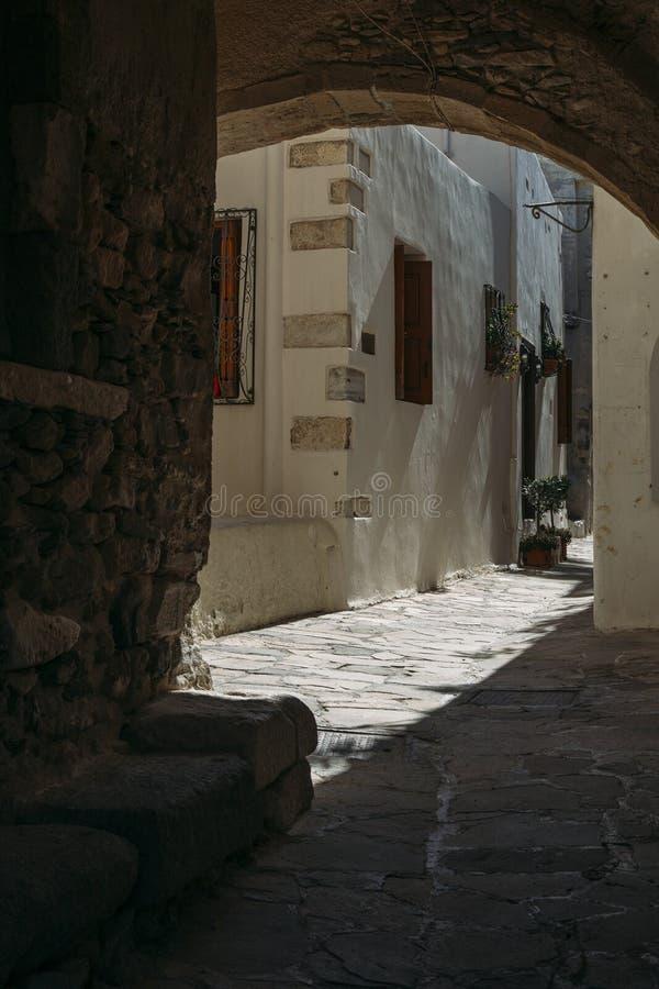 Console de Naxos, Greece fotografia de stock