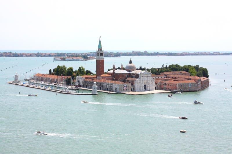 Console de San Giorgio em Veneza, Italy foto de stock