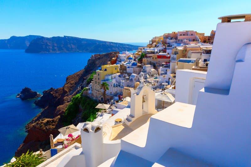 Console de Santorini, Greece fotos de stock