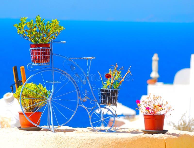 Console de Santorini, Greece imagem de stock royalty free