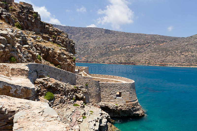 Console de Spinalonga em Crete fotos de stock royalty free