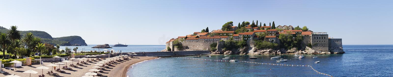 Console de Sveti Stefan em Montenegro imagem de stock royalty free