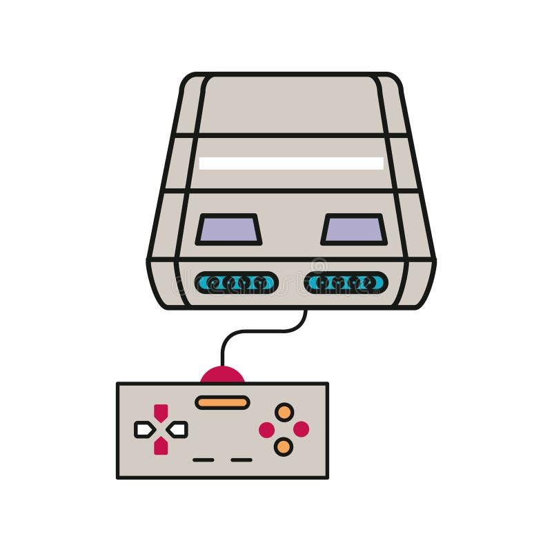 Console de videogame com ícone de controle fotografia de stock royalty free