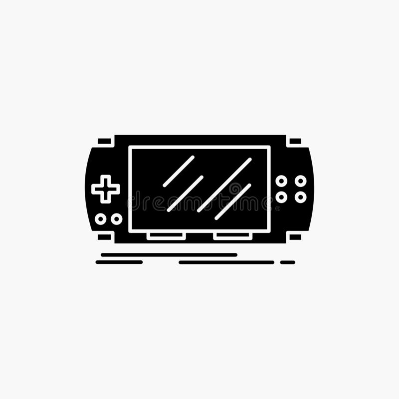 Console, device, game, gaming, psp Glyph Icon. Vector isolated illustration. Vector EPS10 Abstract Template background stock illustration