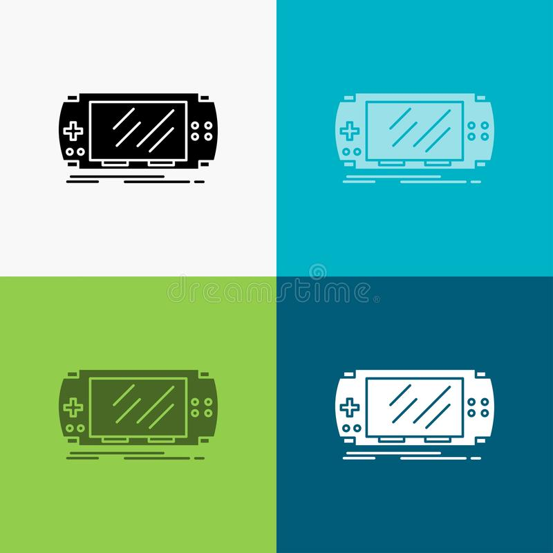 Console, device, game, gaming, psp Icon Over Various Background. glyph style design, designed for web and app. Eps 10 vector. Illustration. Vector EPS10 vector illustration