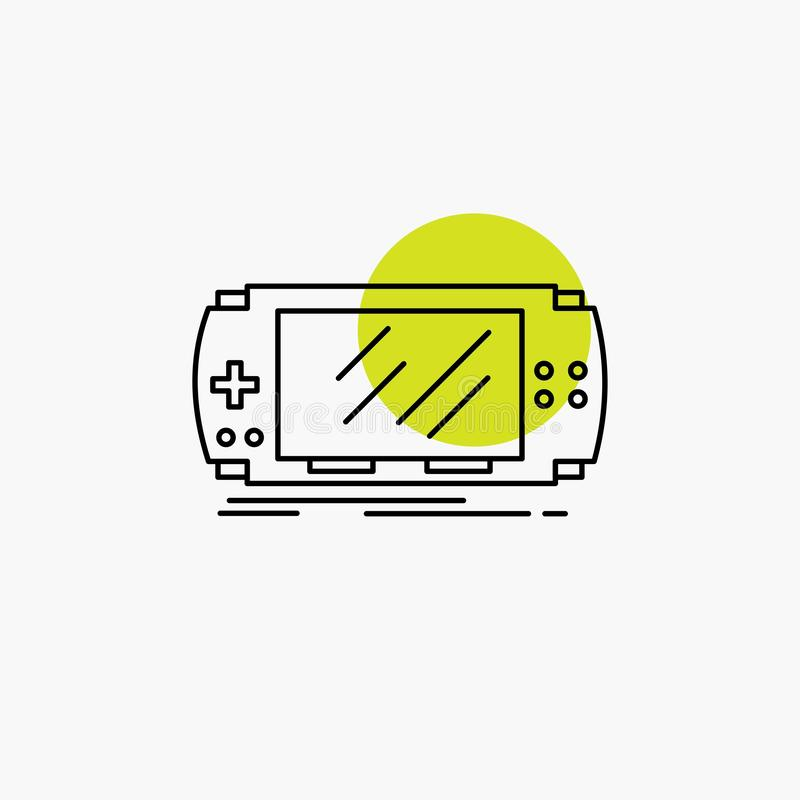 Console, device, game, gaming, psp Line Icon. Vector EPS10 Abstract Template background vector illustration