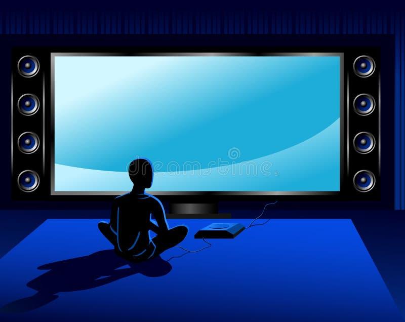Console do jogo ilustração do vetor