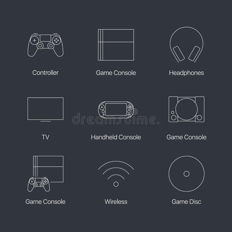 Console do jogo de vídeo ilustração royalty free