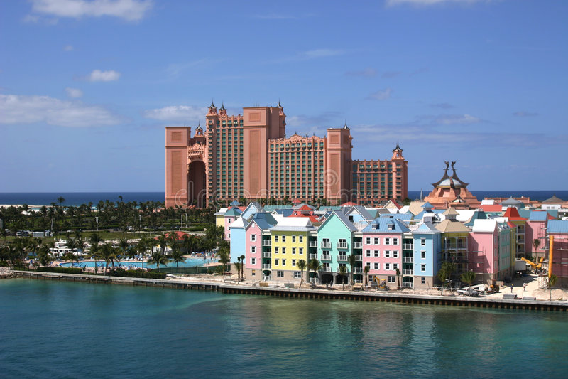 Console do paraíso de Bahamas- fotografia de stock royalty free