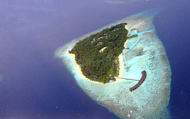 Console em maldives fotografia de stock
