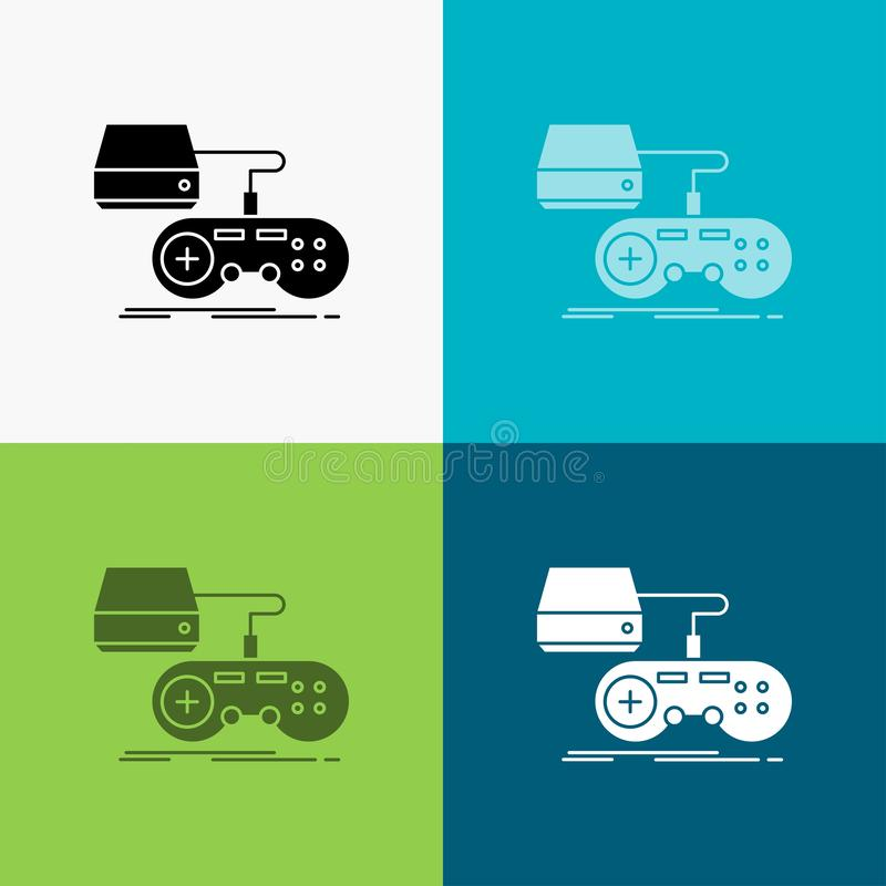 Free Console, Game, Gaming, Playstation, Play Icon Over Various Background. Glyph Style Design, Designed For Web And App. Eps 10 Vector Stock Photography - 145338482